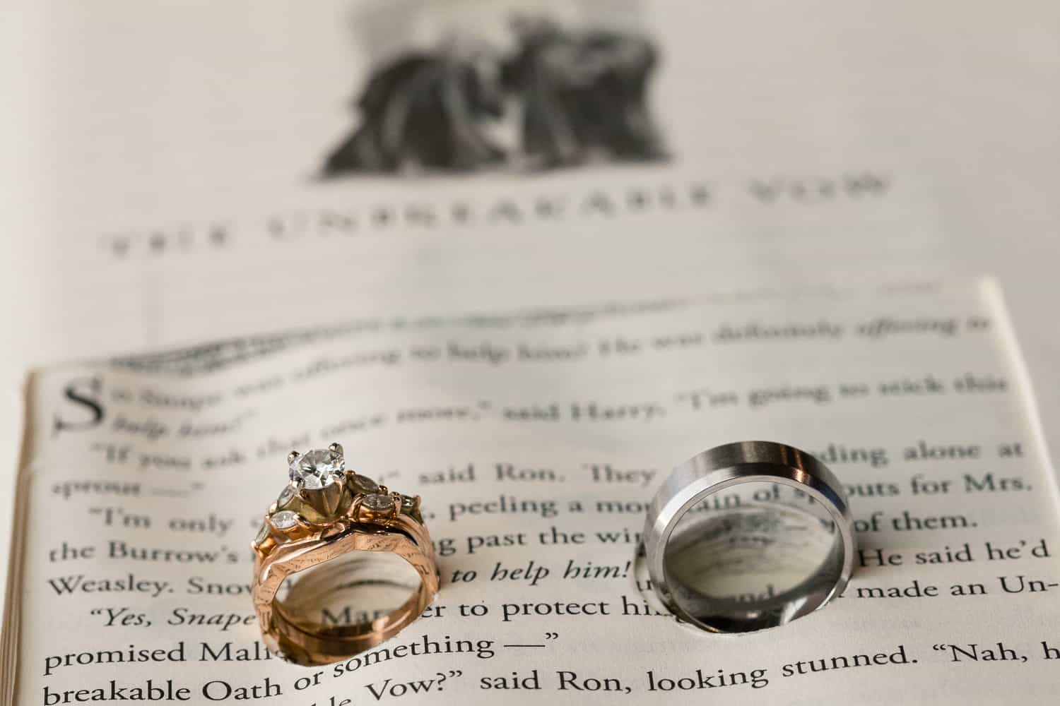 wedding rings in a harry potter book.