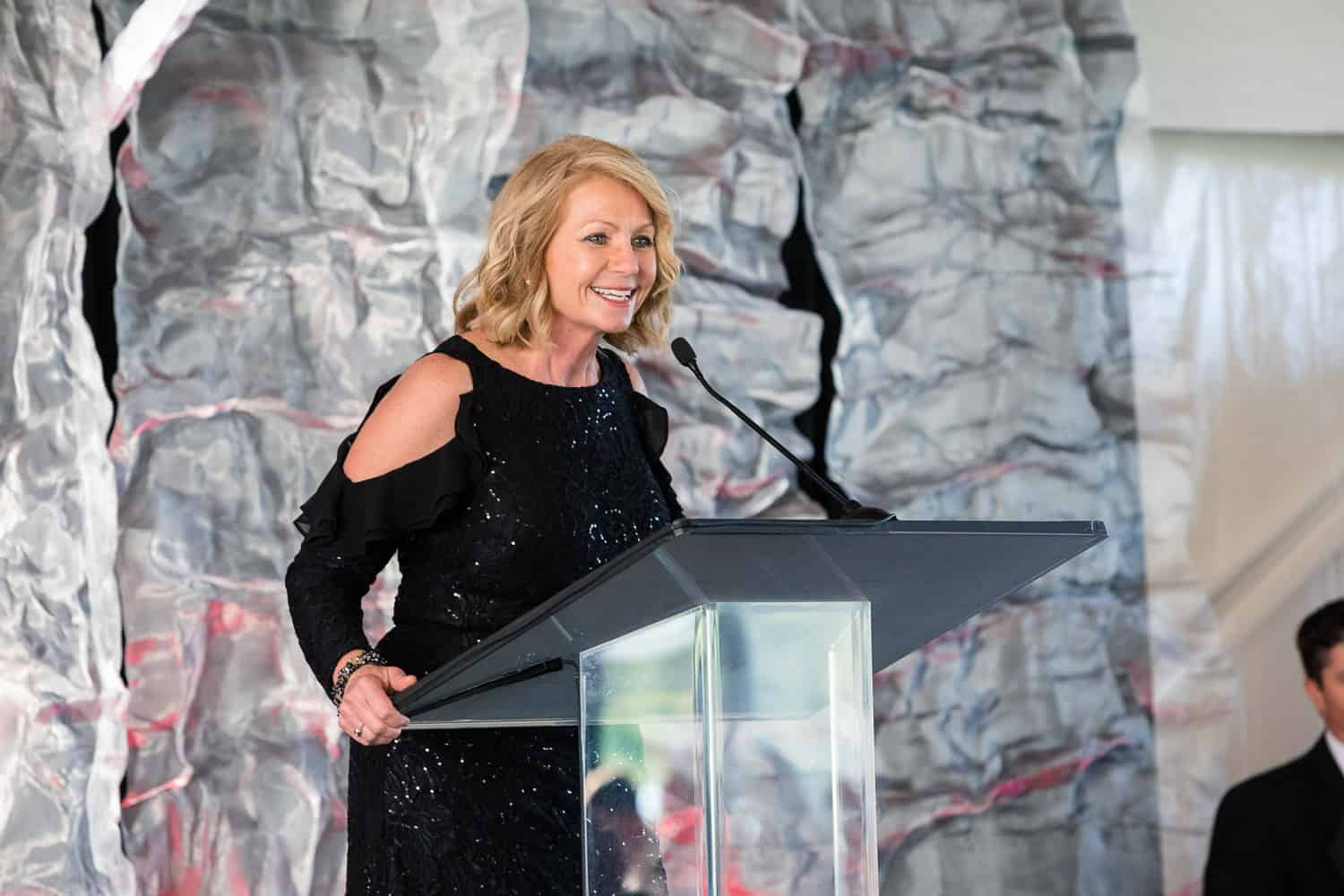 Event photograph of Ginny Ryan hosting American Heart Association Heart Ball.