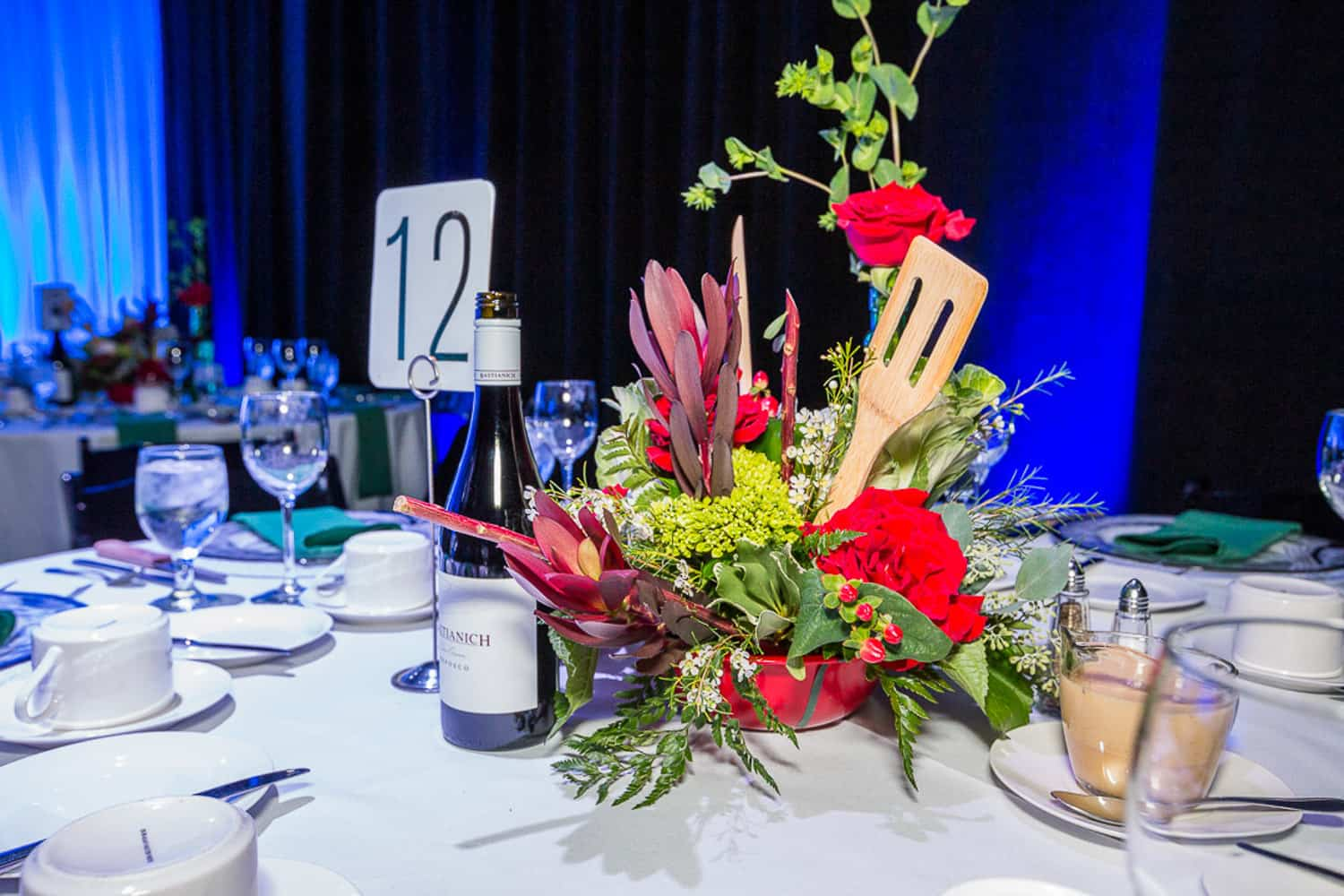 Photo of a centerpiece at a donor event at wxxi.