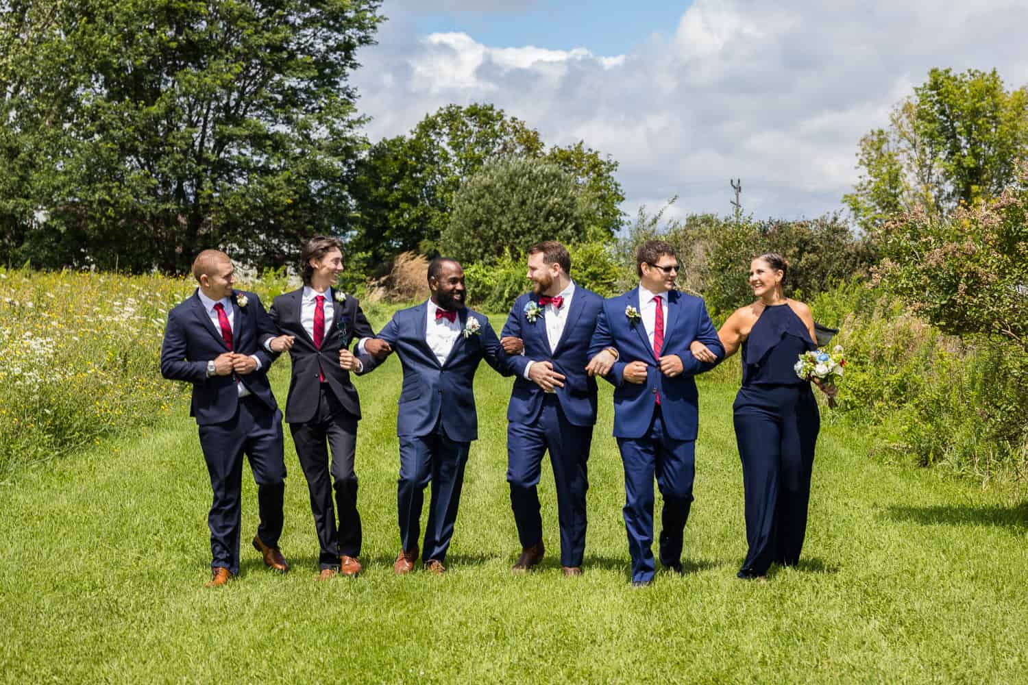 Funny wedding pictures at twin silos barn.