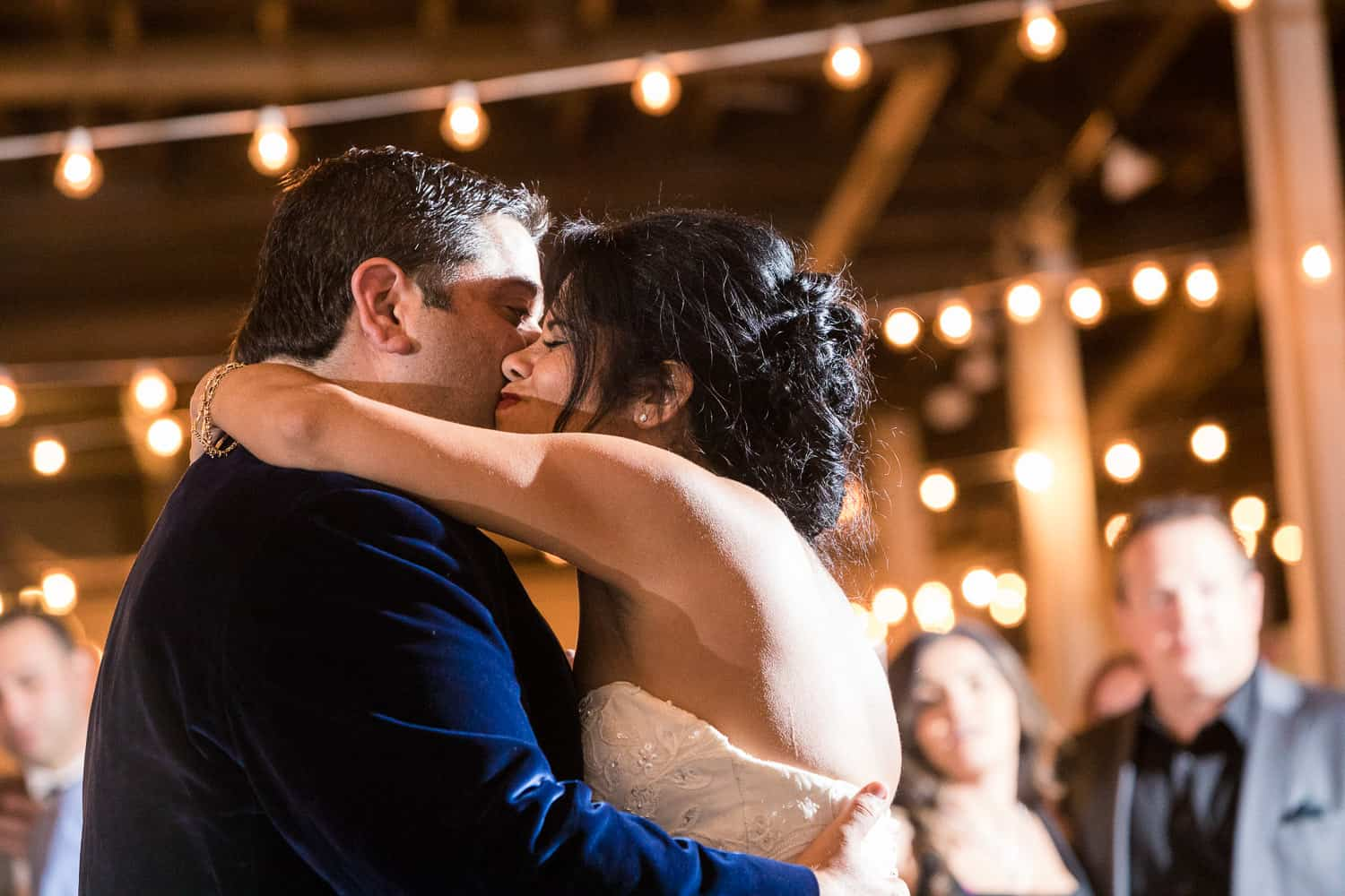 Rosemary and AJ share their first dance at the Arbor Loft wedding.