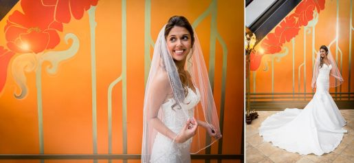 A bridal portrait at Woodcliff Hotel.