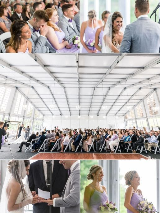 Taryn and Carm and guest reactions at their wedding ceremony at