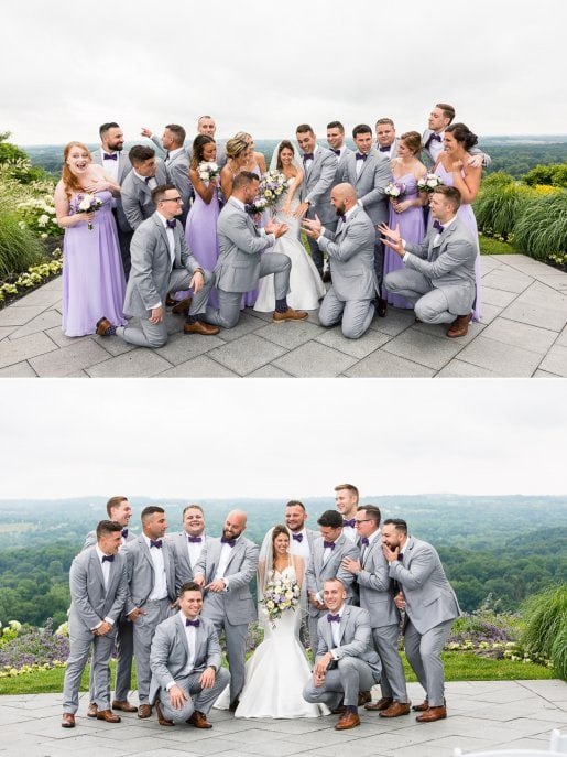Goofy wedding party pics at Woodcliff Hotel. 2
